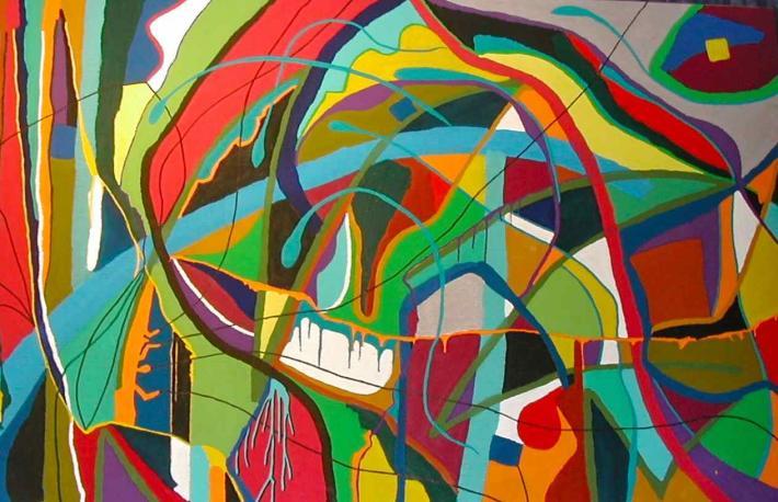 2006 - Acrylique sur toile 250x120