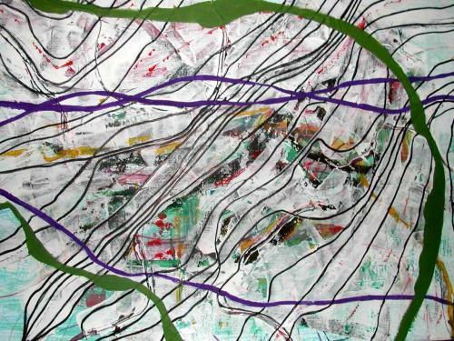2006 - Acrylique papier marouflé sur toile 50x65