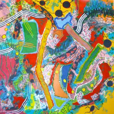 2014 - Voyage intérieur Acrylique sur toile 100x100