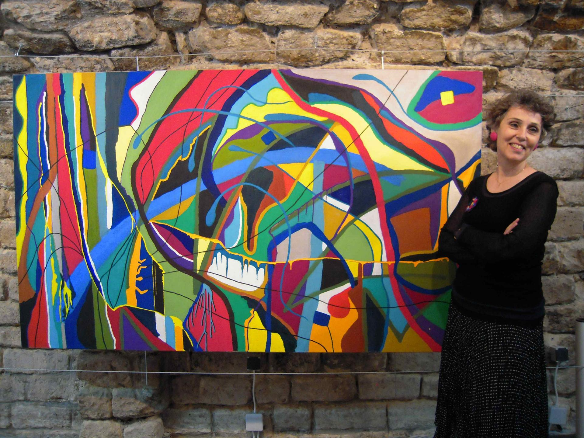 Exubérance de la peinture