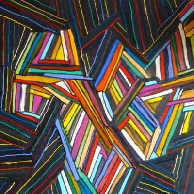 2015 - Chamboulement  Acrylique sur toile 80x80